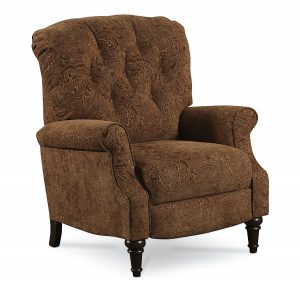 Classic Style High Leg Fabric Small Recliner