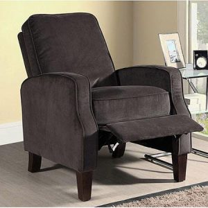 High Leg Soft Comfortable Micro Suede Fabric Recliner