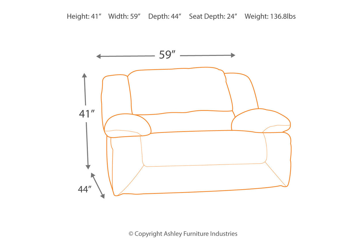 Hogan Oversized Recliner Measurements