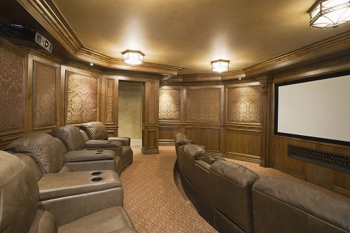 Small Theater Room With Recliners